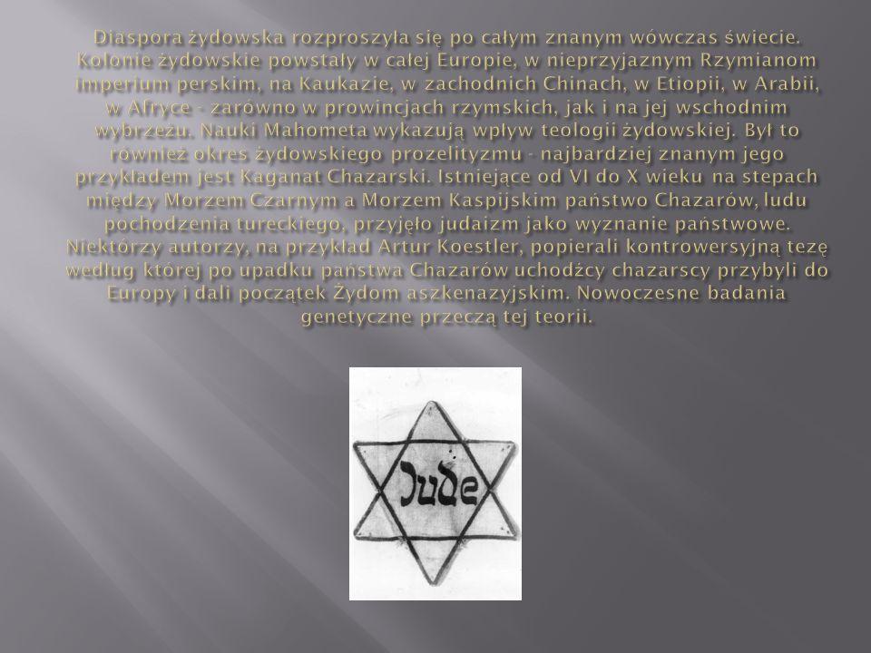 Diaspora żydowska rozproszyła się po całym znanym wówczas świecie