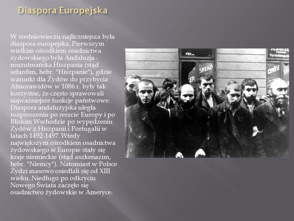 W średniowieczu najliczniejsza była diaspora europejska
