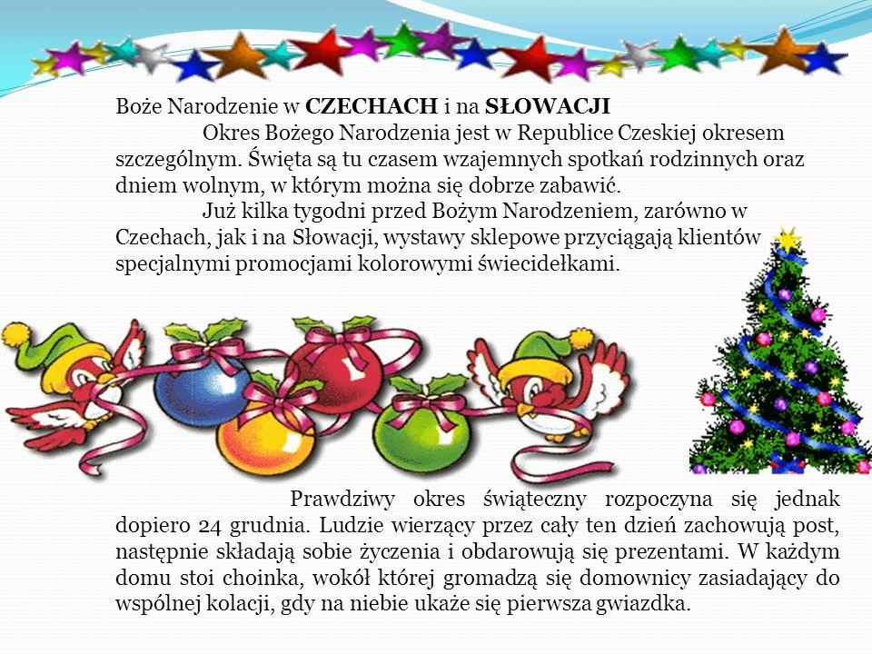 Boże Narodzenie w CZECHACH i na SŁOWACJI