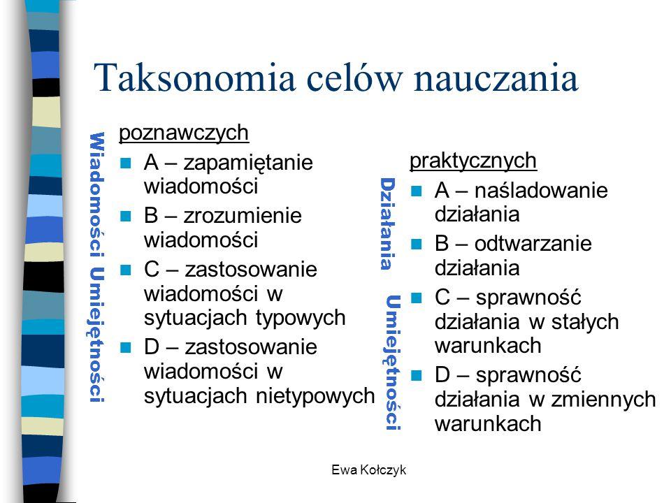 Taksonomia celów nauczania