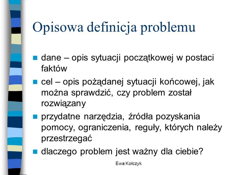 Opisowa definicja problemu