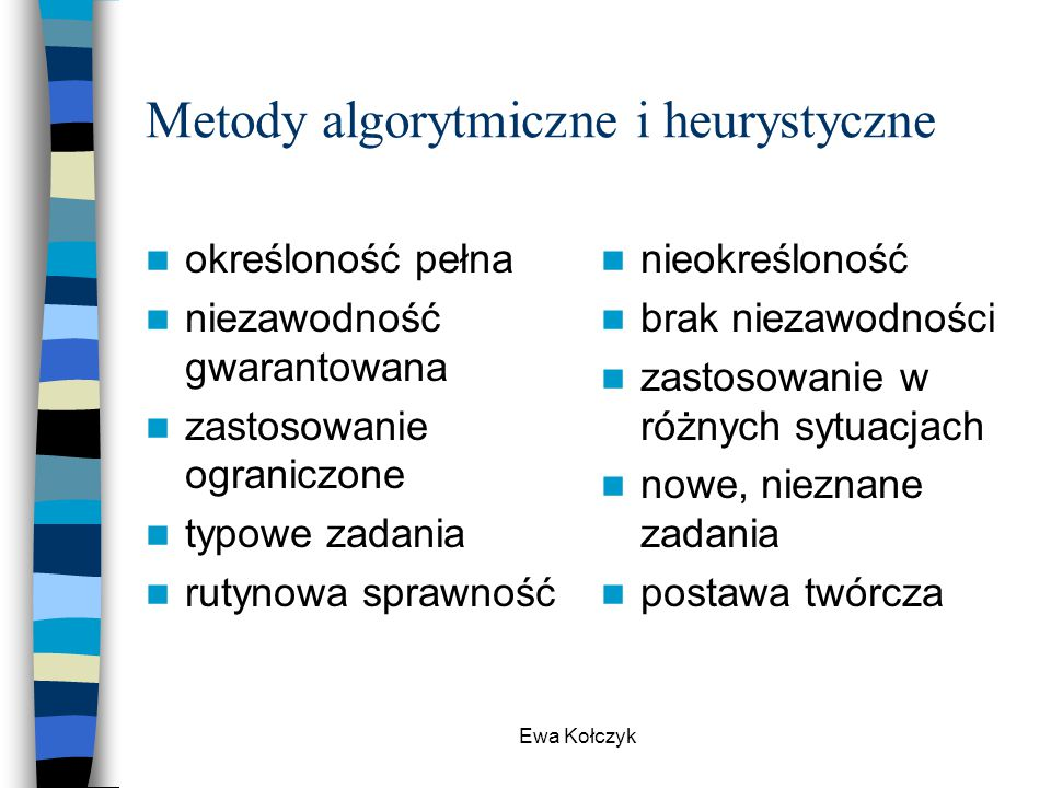 Metody algorytmiczne i heurystyczne