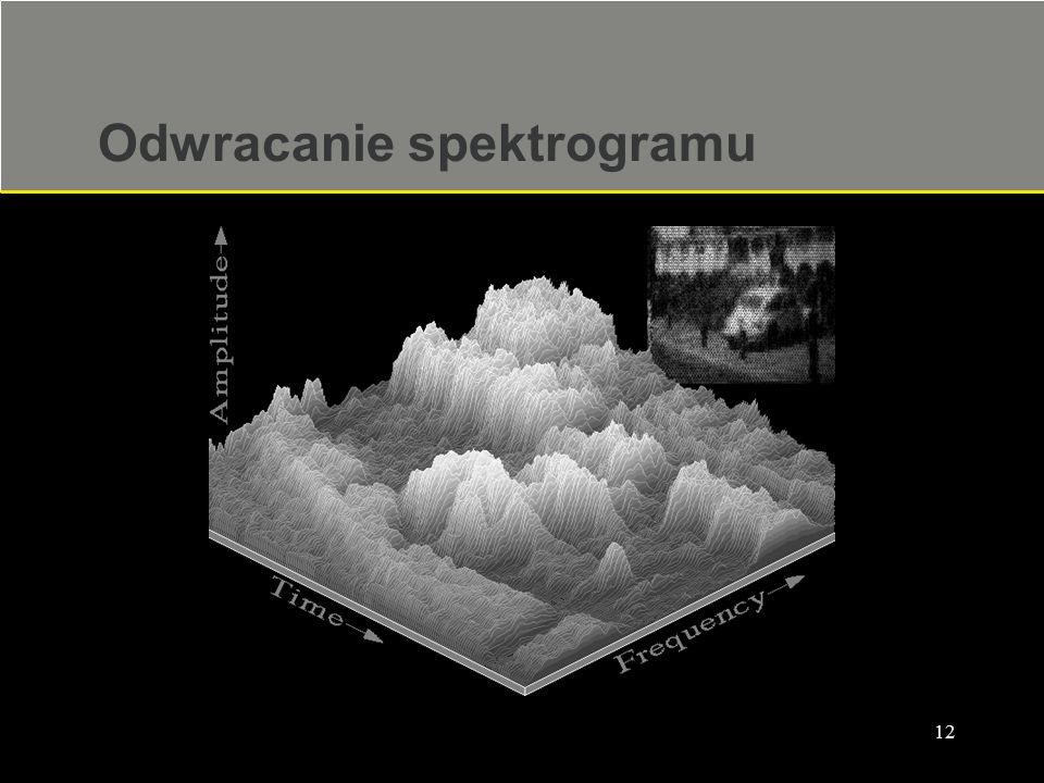 Odwracanie spektrogramu