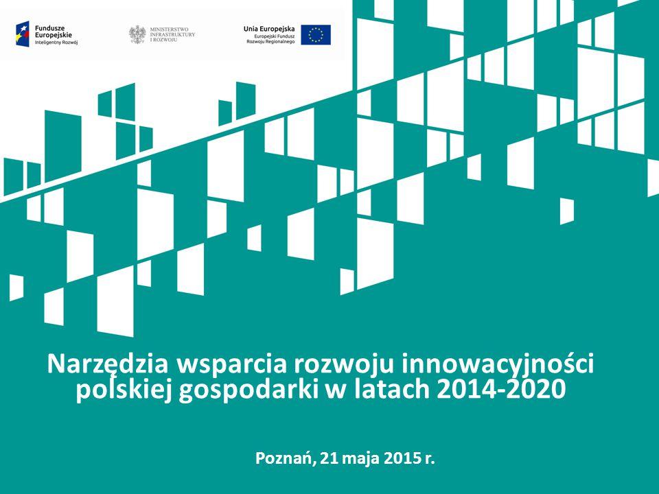 Narzędzia wsparcia rozwoju innowacyjności polskiej gospodarki w latach 2014-2020