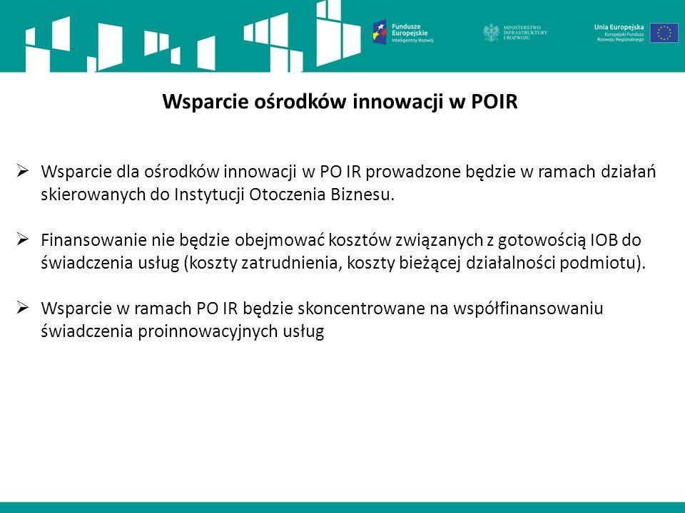 Wsparcie ośrodków innowacji w POIR