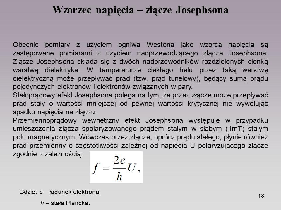Wzorzec napięcia – złącze Josephsona