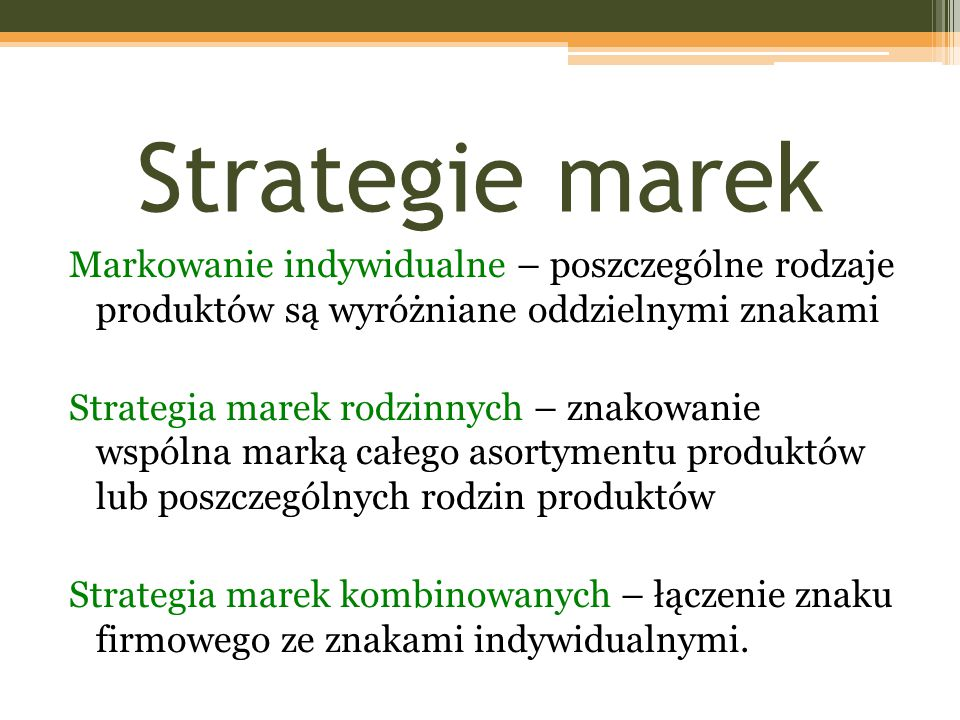 Strategie marek