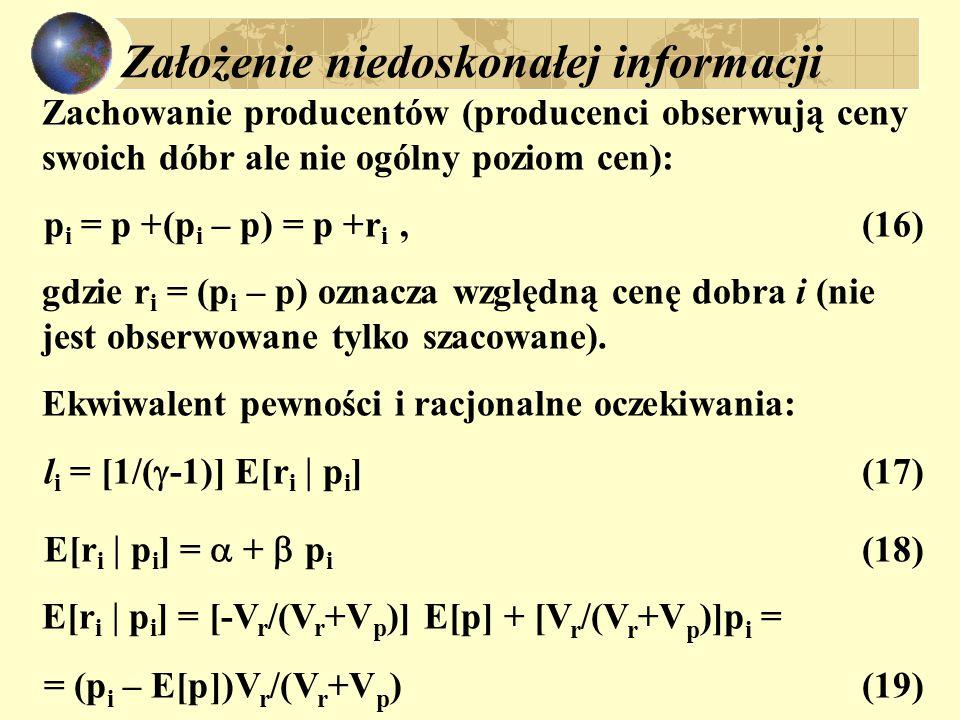 Założenie niedoskonałej informacji
