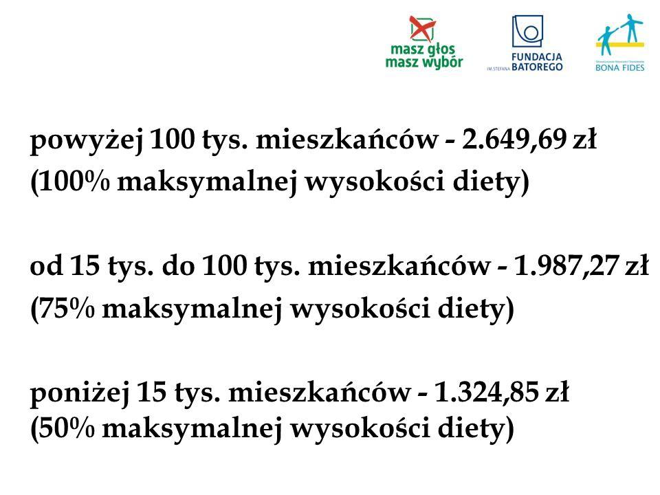 powyżej 100 tys. mieszkańców - 2.649,69 zł