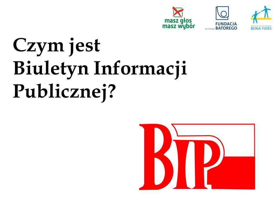 Czym jest Biuletyn Informacji Publicznej