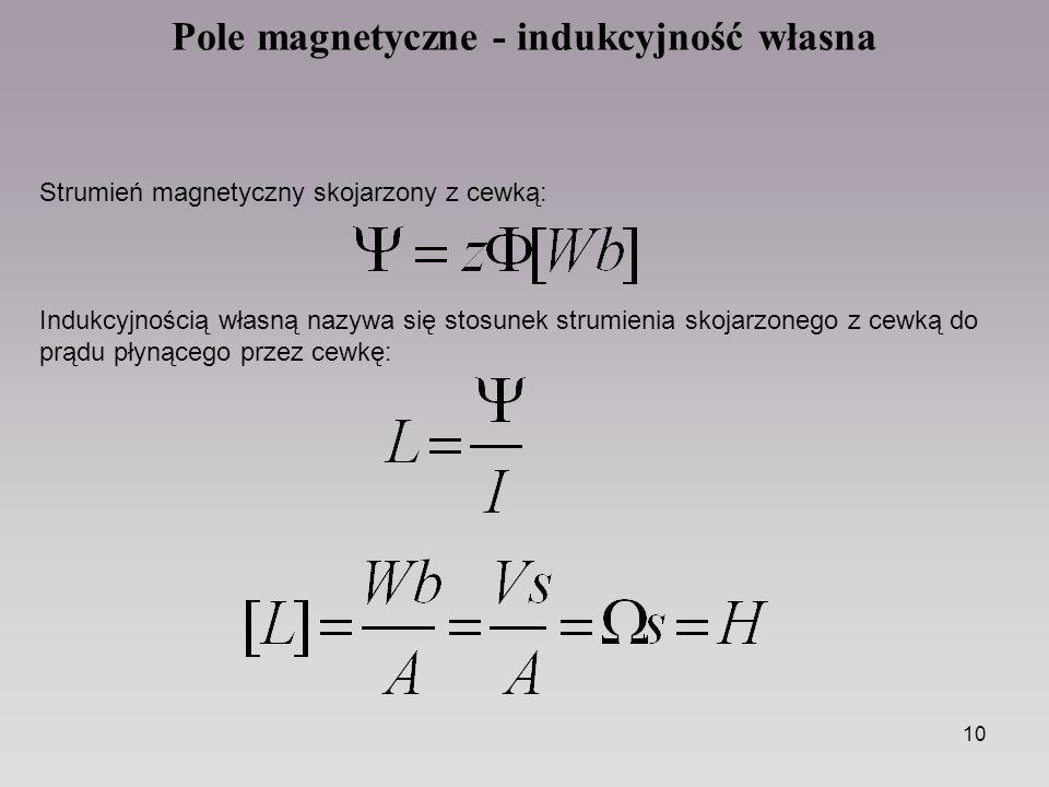 Pole magnetyczne - indukcyjność własna