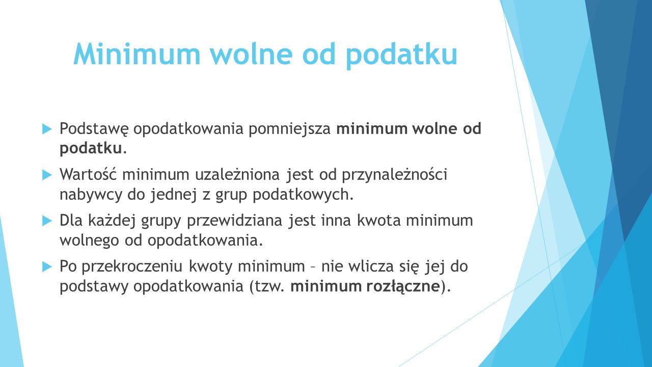 Minimum wolne od podatku