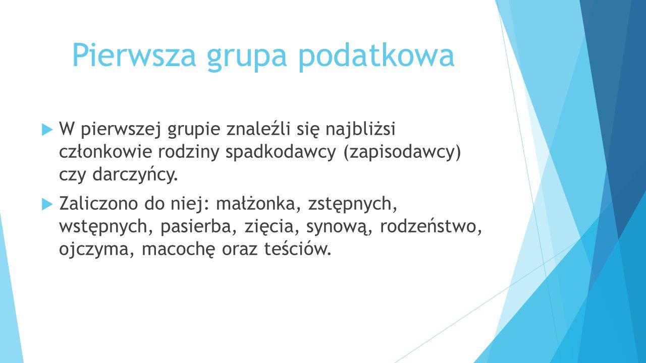Pierwsza grupa podatkowa