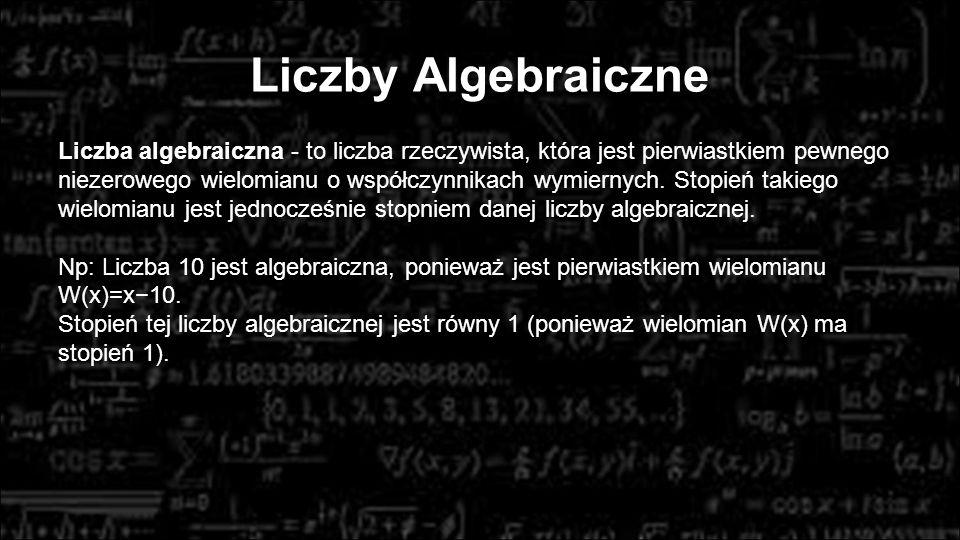 Liczby Algebraiczne