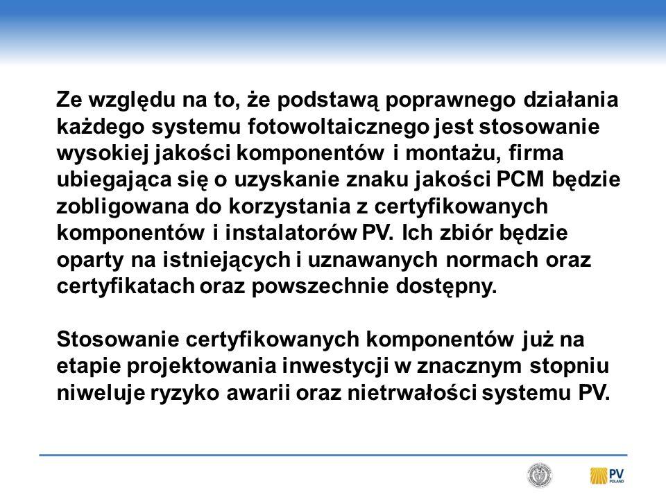 Konkluzja Cały proces certyfikacji firm instalujących, będzie uporządkowaniem obowiązujących norm i schematem ich przestrzegania.