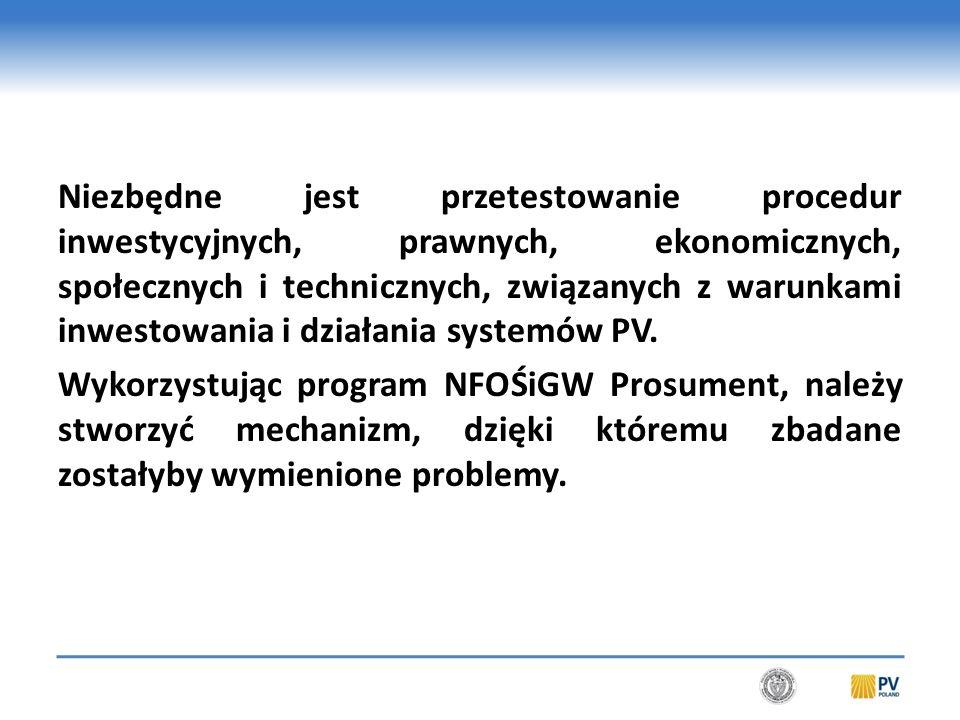 Wiąże się to z wprowadzeniem monitoringu on-line jako obowiązkowego elementu systemów PV.