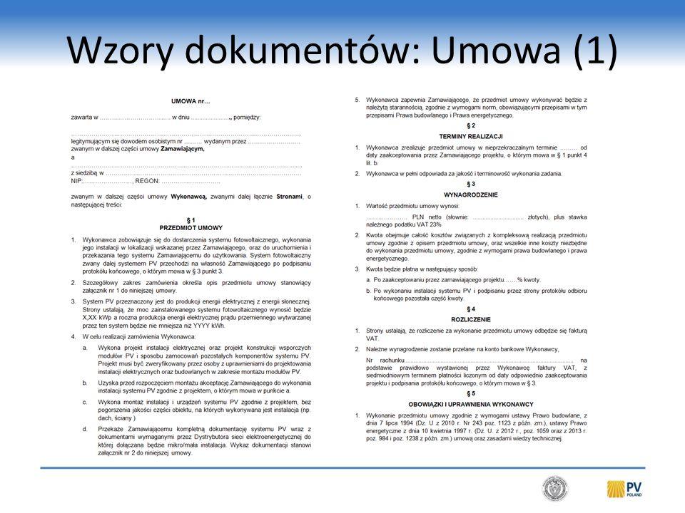 Wzory dokumentów: Umowa (2)