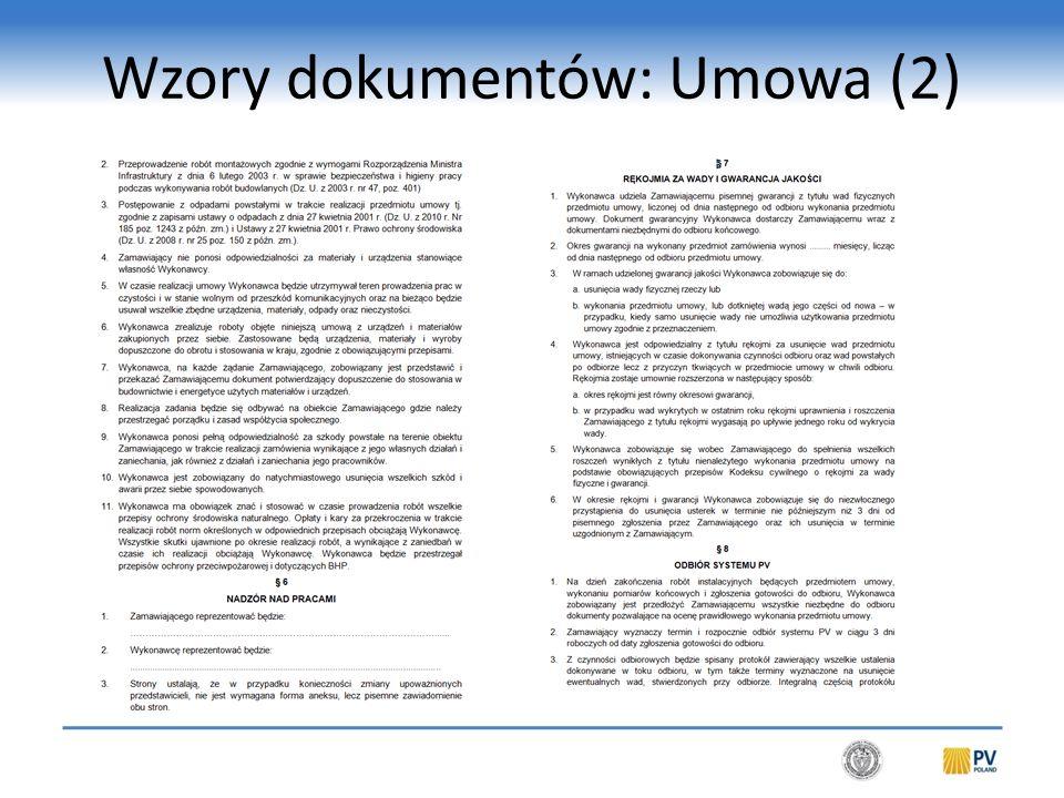 Wzory dokumentów: Umowa (3)