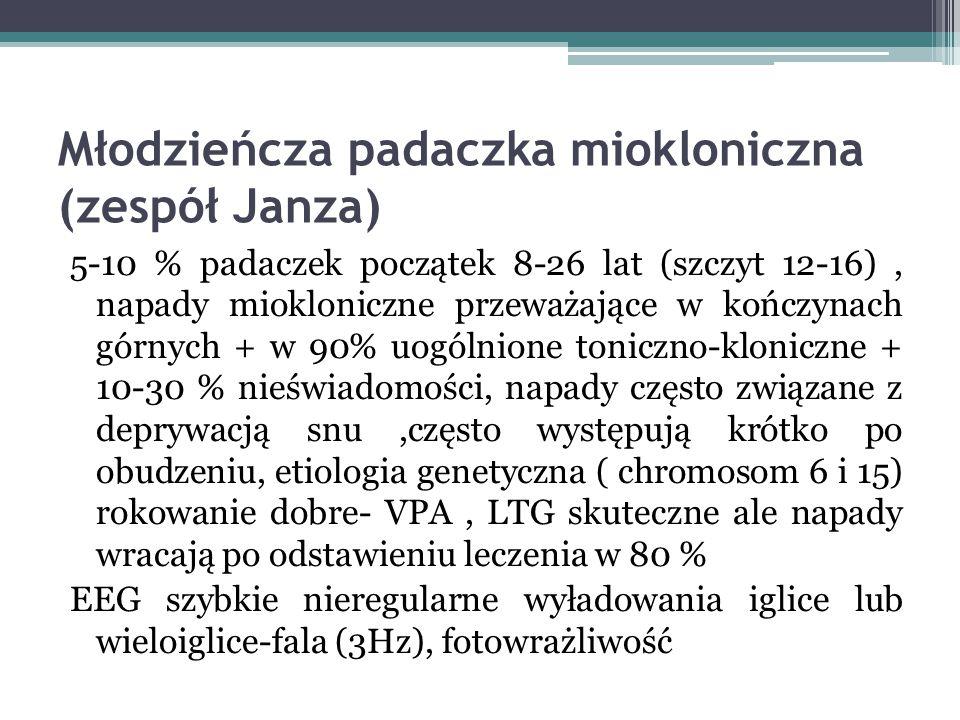 Młodzieńcza padaczka miokloniczna (zespół Janza)
