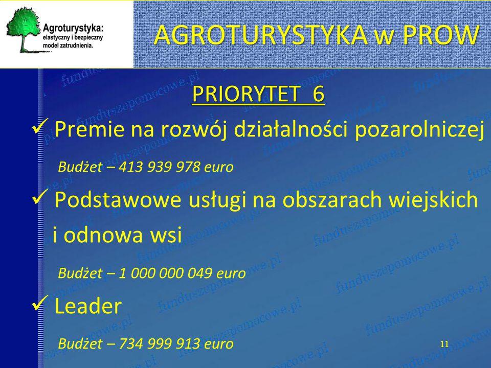 AGROTURYSTYKA w PROW PRIORYTET 6