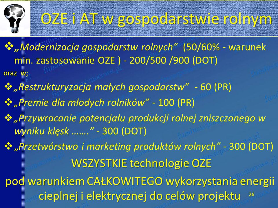 OZE i AT w gospodarstwie rolnym