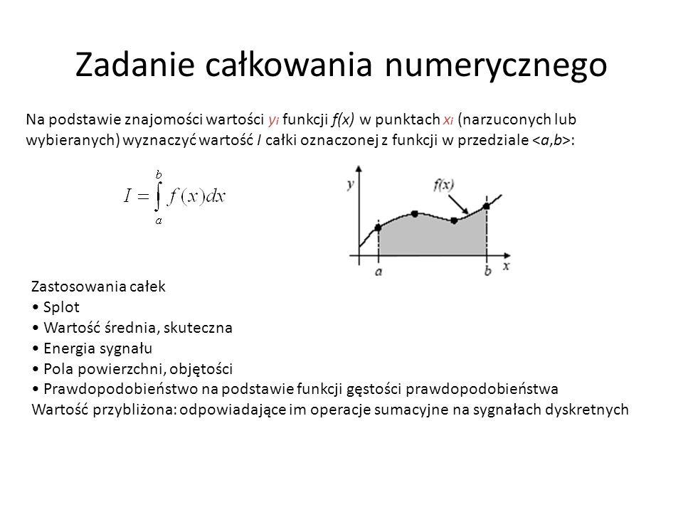 Zadanie całkowania numerycznego