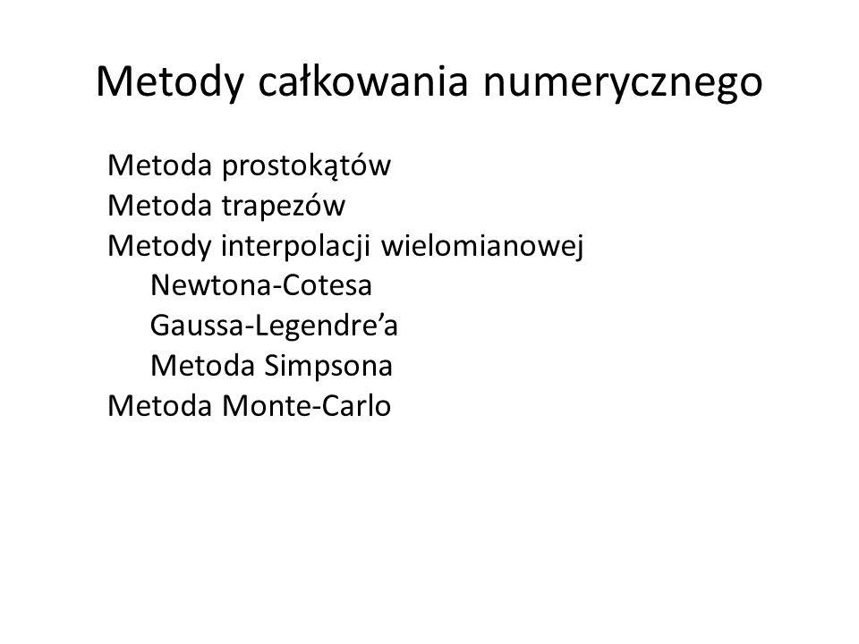 Metody całkowania numerycznego