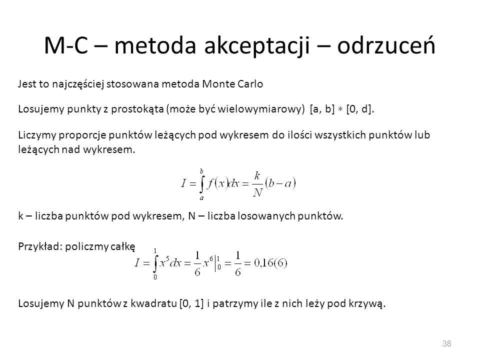 M-C – metoda akceptacji – odrzuceń