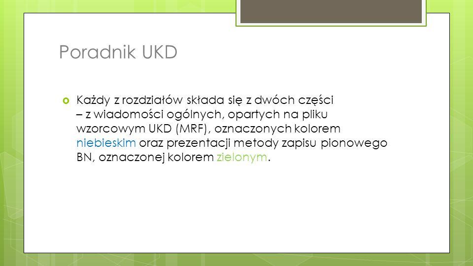 Poradnik UKD
