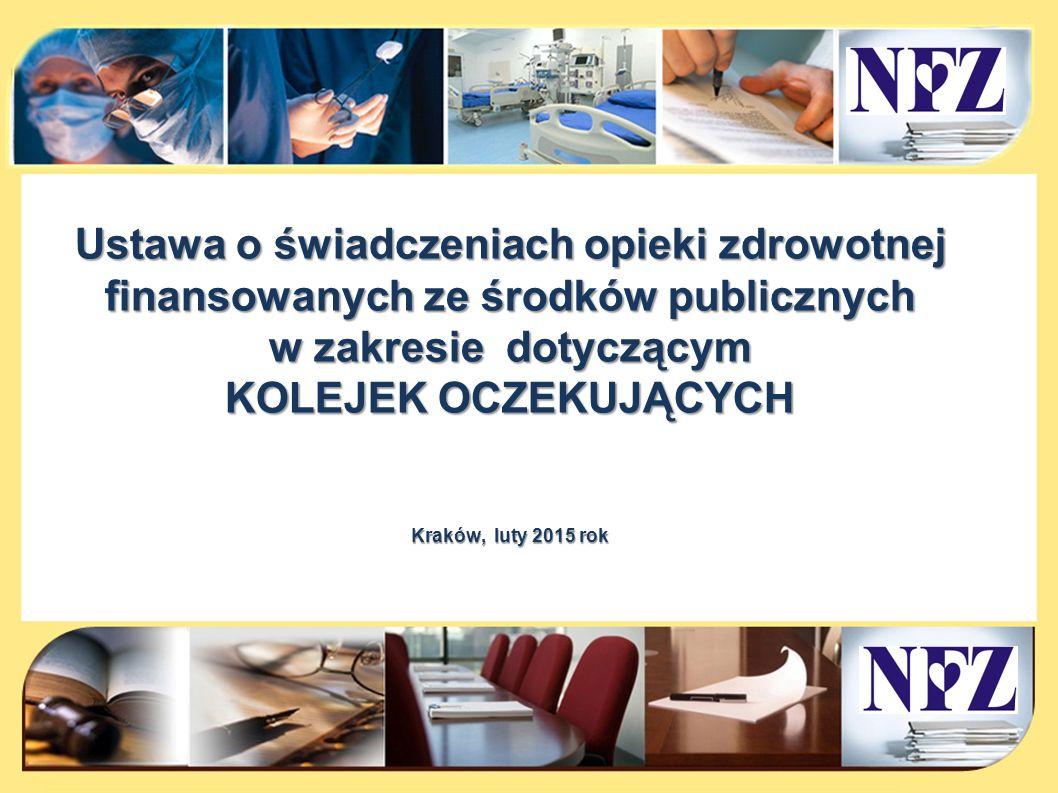 Ustawa o świadczeniach opieki zdrowotnej finansowanych ze środków publicznych
