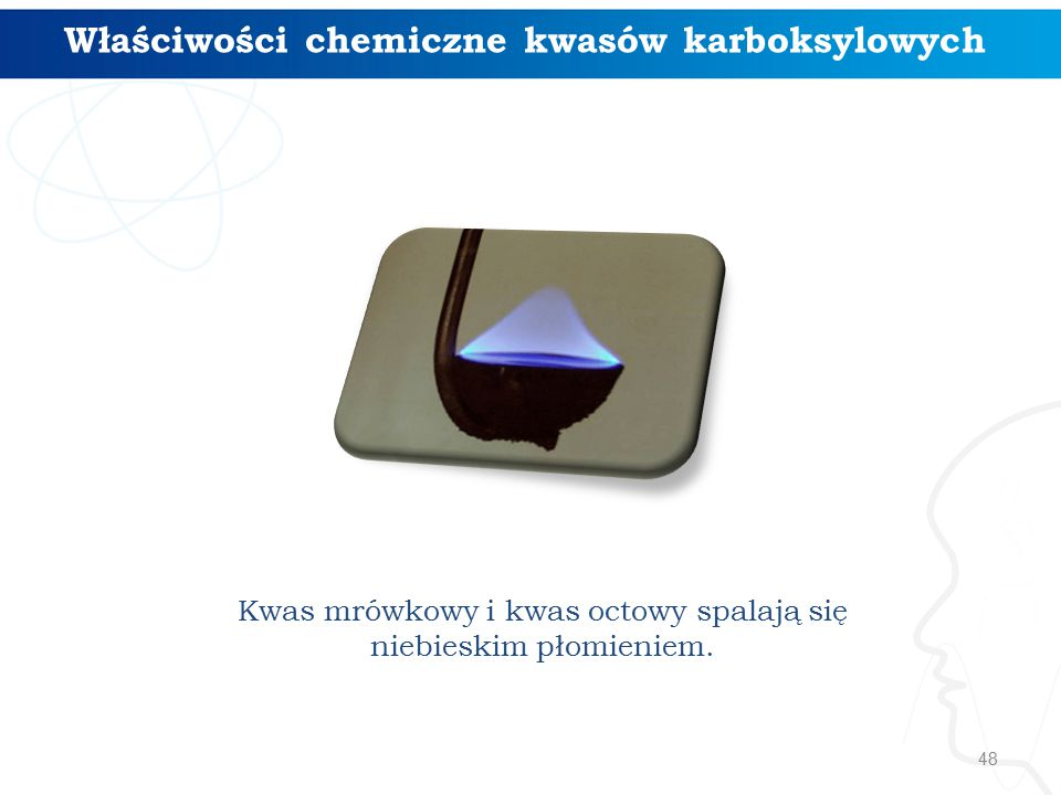 Właściwości chemiczne kwasów karboksylowych