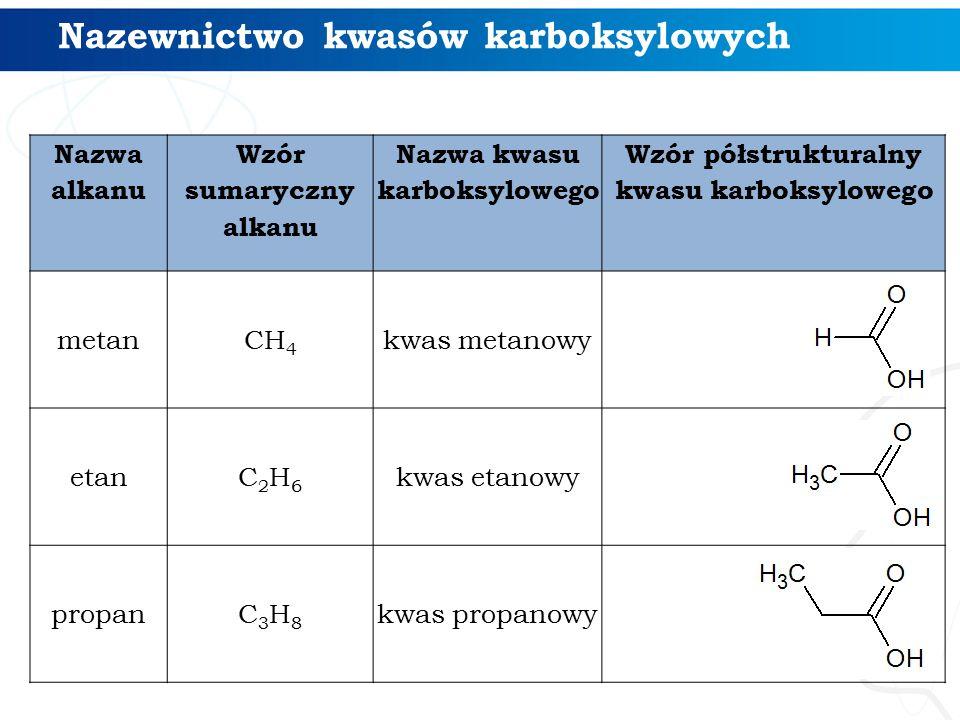 Nazewnictwo kwasów karboksylowych