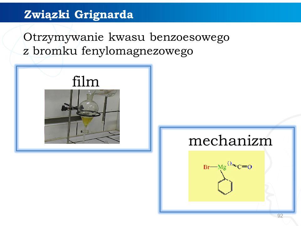 film mechanizm Związki Grignarda