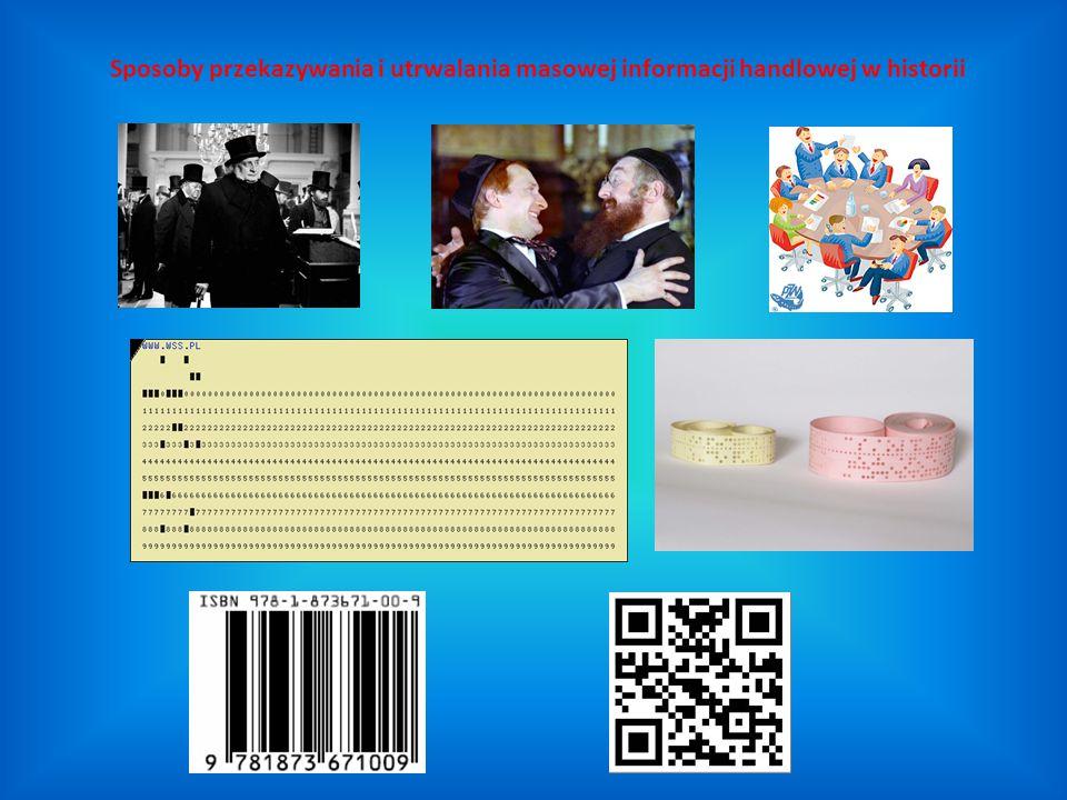 Sposoby przekazywania i utrwalania masowej informacji handlowej w historii
