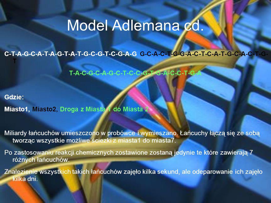 Model Adlemana cd. C-T-A-G-C-A-T-A-G-T-A-T-G-C-G-T-C-G-A-G G-C-A-C-T-G-G-A-C-T-C-A-T-G-C-A-C-T-G-T.