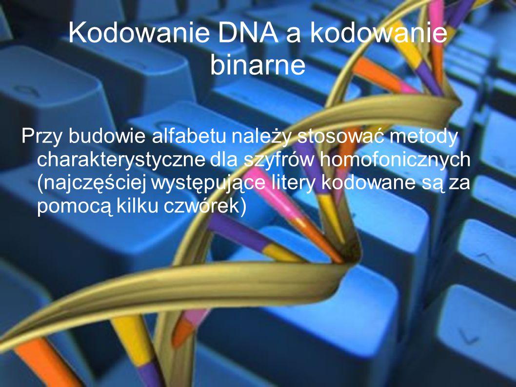 Kodowanie DNA a kodowanie binarne