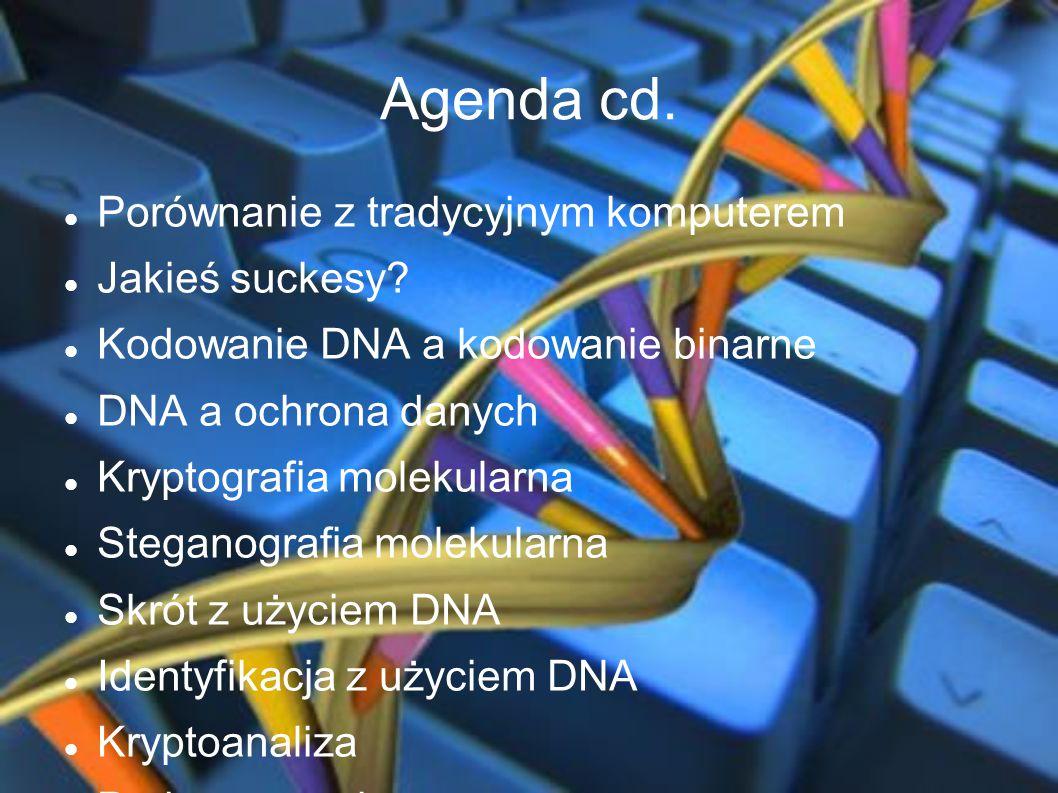 Agenda cd. Porównanie z tradycyjnym komputerem Jakieś suckesy