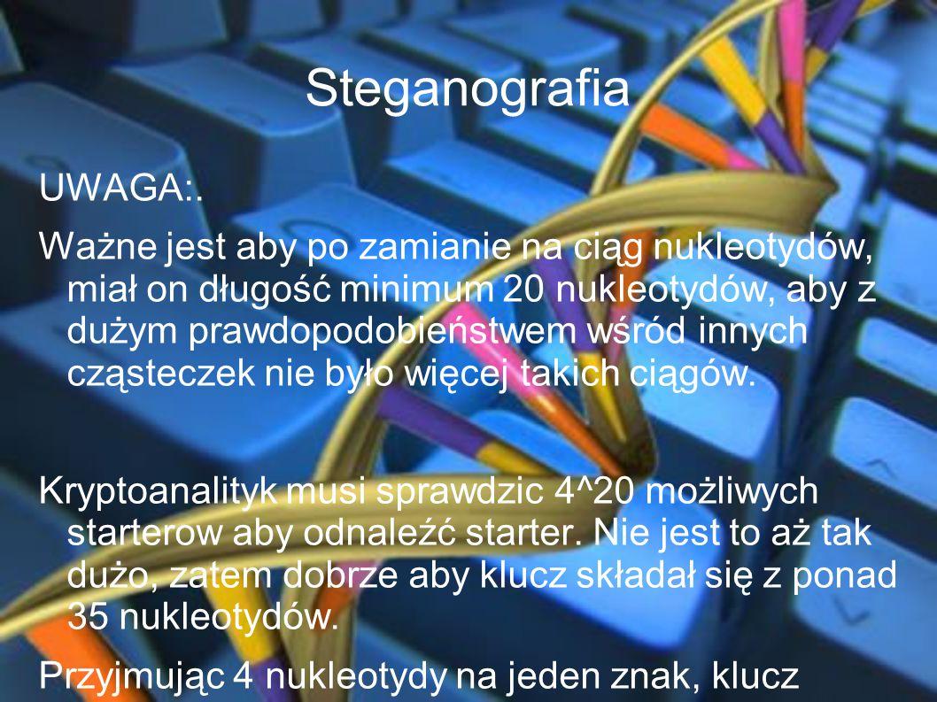 Steganografia UWAGA:.