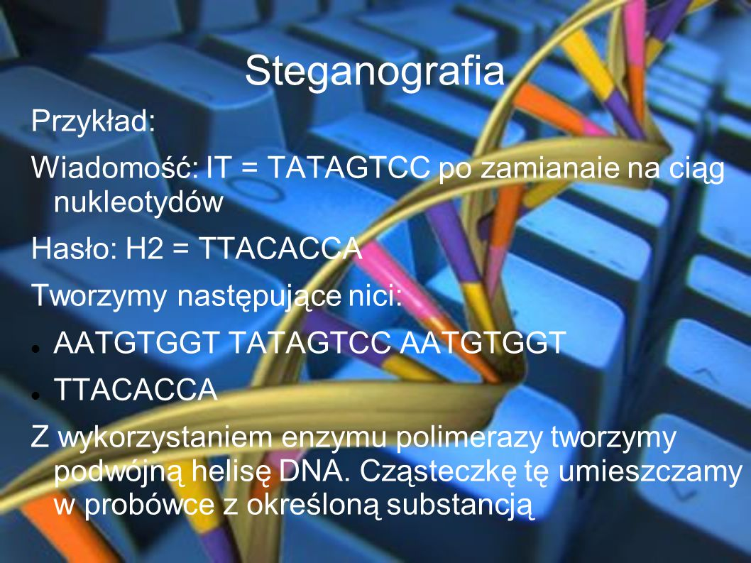 Steganografia Przykład: