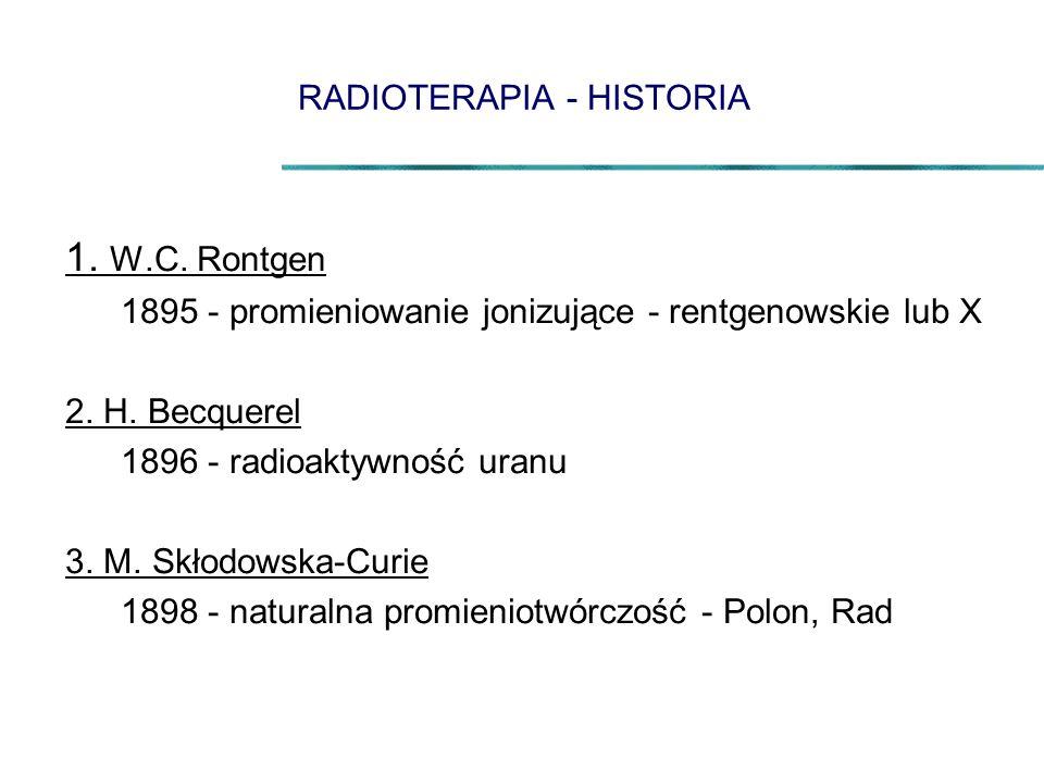 RADIOTERAPIA - HISTORIA