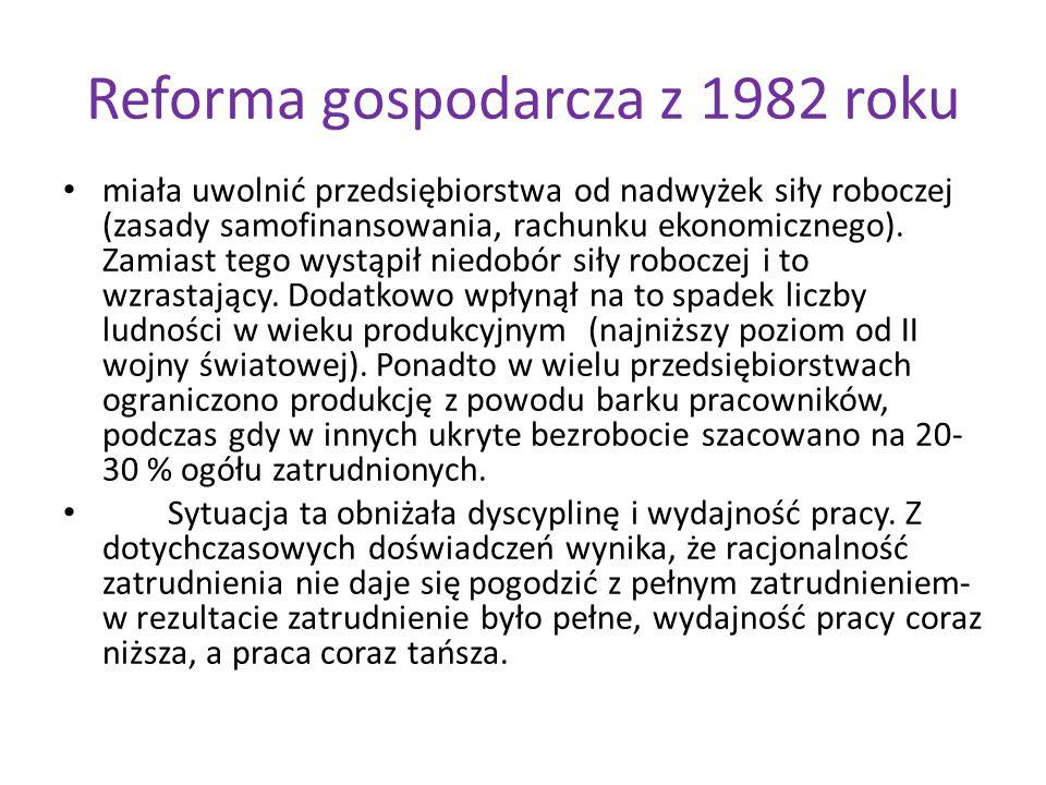 Reforma gospodarcza z 1982 roku