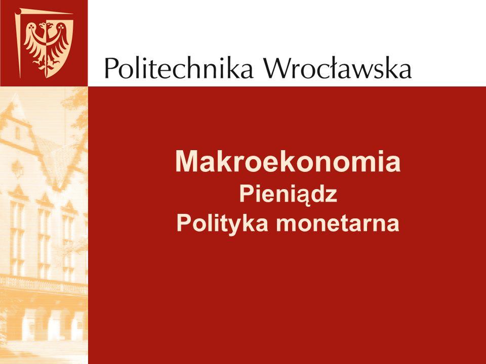 Makroekonomia Pieniądz Polityka monetarna