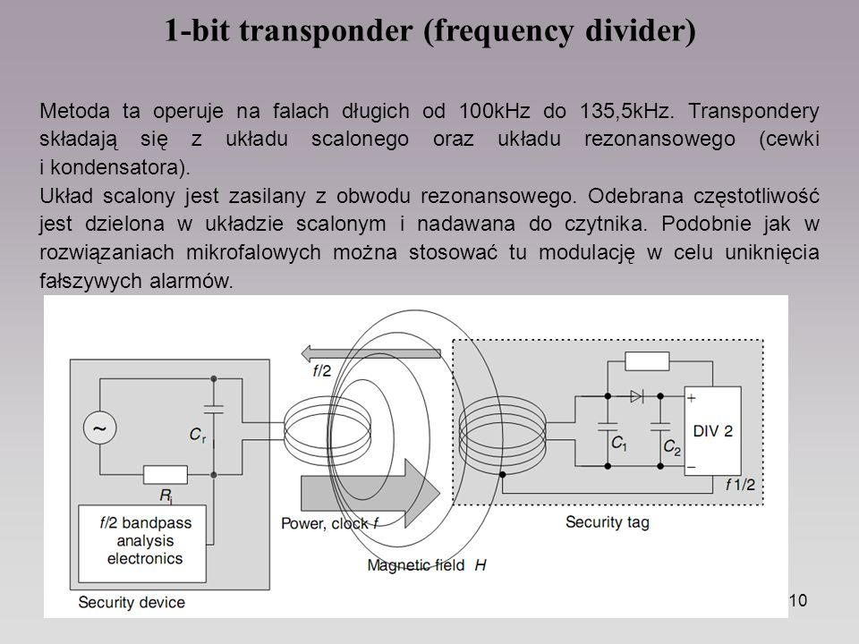 1-bit transponder (frequency divider)