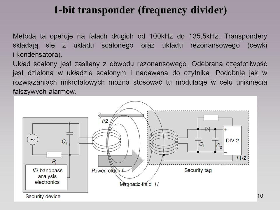 1-bit transponder (frequency divider)