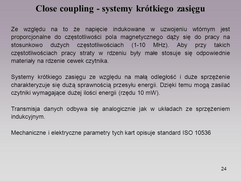 Close coupling - systemy krótkiego zasięgu