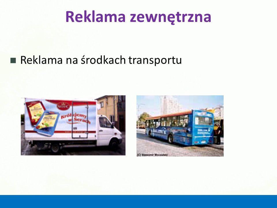 Reklama zewnętrzna Reklama na środkach transportu