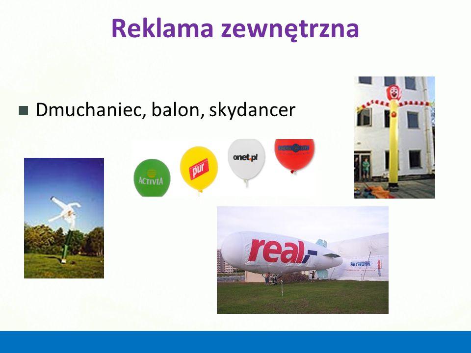 Reklama zewnętrzna Dmuchaniec, balon, skydancer