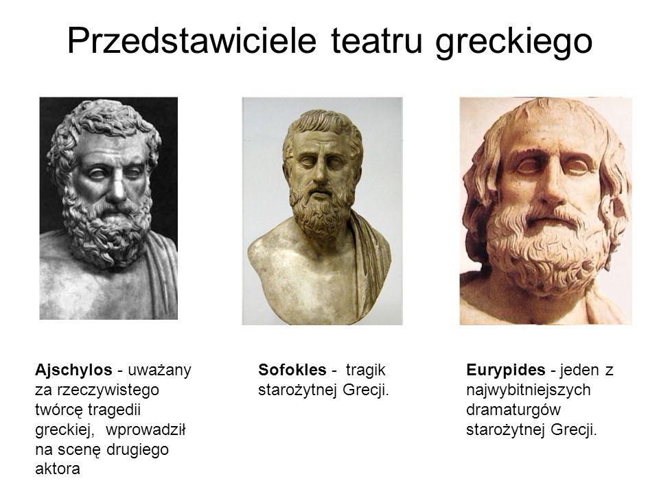 Przedstawiciele teatru greckiego