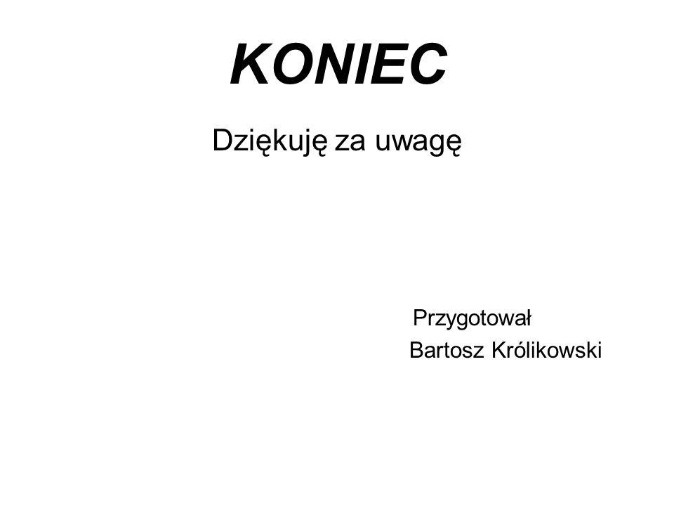 KONIEC Dziękuję za uwagę Przygotował Bartosz Królikowski