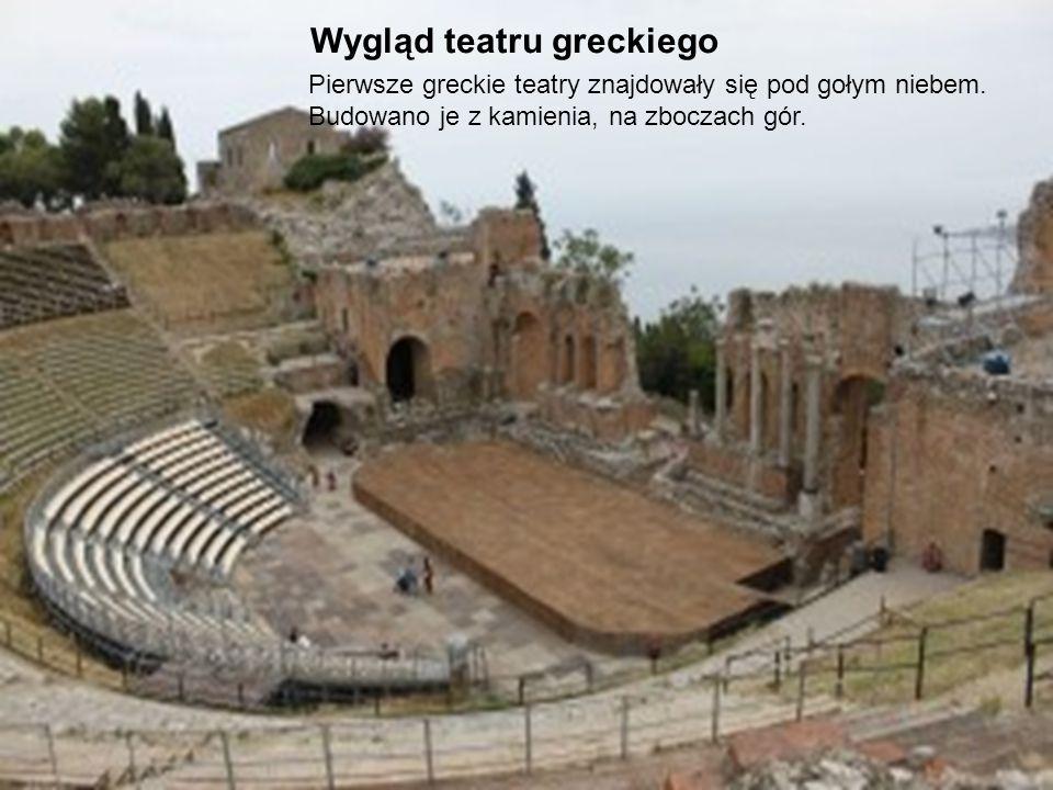 Wygląd teatru greckiego